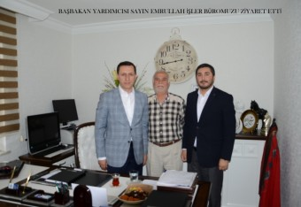 Deputy Prime Minister Mr. Emrullah İşler visited our office